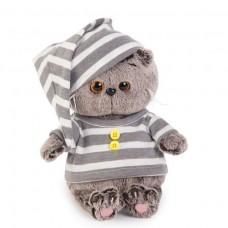 Басик BABY в серой полосатой пижаме