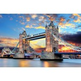 "Алмазная мозаика ""Лондон: Тауэрский мост""  (40х30см)"
