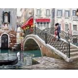 """Алмазная мозаика """"Венеция. Мост влюбленных"""" (40х30см)"""