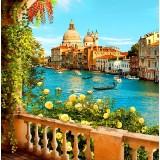 """Алмазная мозаика """"Вид на канал Венеции с террасы""""  (40х30см)"""