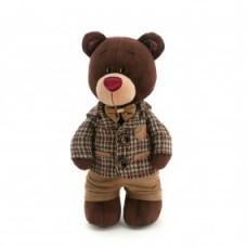 Медвежонок Choco стоячий в клетчатом пиджаке