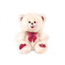 Медведь декоративный светлый мини - музыкальная игрушка
