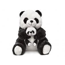 Панда-мама, сидящая с малышом - музыкальная игрушка.