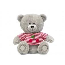 Медвежонок Масик в тельняшке с вишнями - музыкальная игрушка.