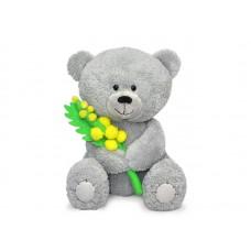 Медвежонок Масик с мимозой - музыкальная игрушка.
