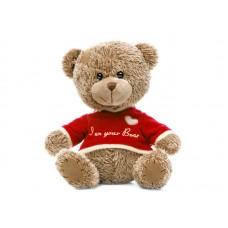 Медвежонок лохматый в футболочке  - музыкальная игрушка.