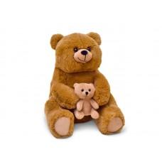 Медведица с малышом, сидячая - музыкальная игрушка.