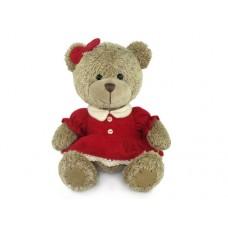 Медвежонок-девочка в платье - музыкальная игрушка