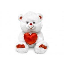 Медведь с декоративным сердцем - музыкальная игрушка.