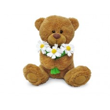 Медвежонок Сэмми с ромашками - музыкальная игрушка