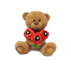 Медвежонок Сэмми с маками - музыкальная игрушка