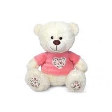 Медвежонок Сэмми в кофточке с декоративным сердечком - музыкальная игрушка.