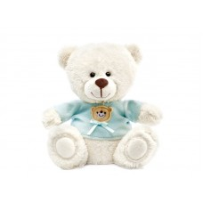 Медвежонок Сэмми в голубой кофточке - музыкальная игрушка.