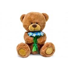 Медвежонок Сэмми с незабудками - музыкальная игрушка