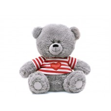 Медвежонок в полосатой футболке - музыкальная игрушка.