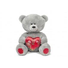 Медвежонок с парчовым сердцем - музыкальная игрушка.