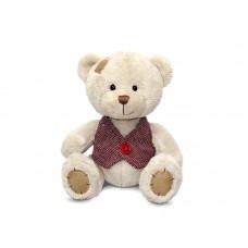 Медведь Берни в жилетке малый - музыкальная игрушка.