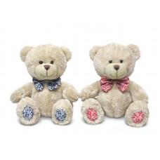 Медведь Берни с декоративным бантом - музыкальная игрушка