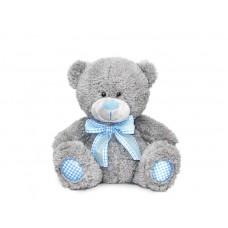 Медведь с голубым бантом - музыкальная игрушка.