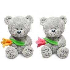 Медвежонок Ники с тюльпаном - музыкальная игрушка.