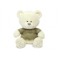 Медвежонок Ники в свитере с блёстками - музыкальная игрушка.