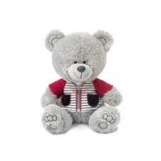 Медвежонок Ники в футболке с молнией - музыкальная игрушка.