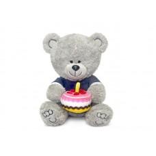 Медвежонок Ники с тортом - музыкальная игрушка.