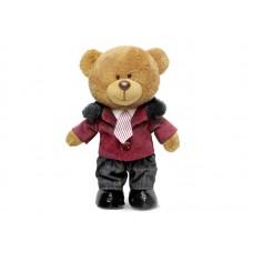 Медведь Оливер в курточке - музыкальная игрушка.