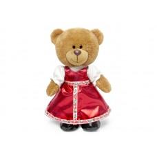 Медведица Оливия в русском наряде - музыкальная игрушка.