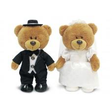 Медведи в свадебном наряде - музыкальная игрушка.