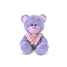 Медвежонок сиреневый с косынкой - музыкальная игрушка.