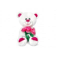 Медведь Амурчик с букетом роз - музыкальная игрушка.