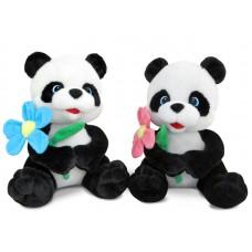 Панда с цветком - музыкальная игрушка.