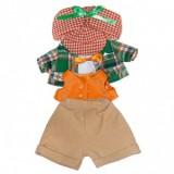 Зеленый пиджак и кепка в клету для Зайки Ми мальчика