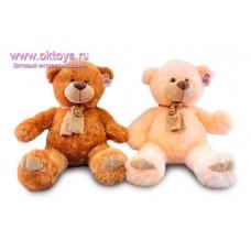 Медведь в бежевом шарфе - музыкальная игрушка