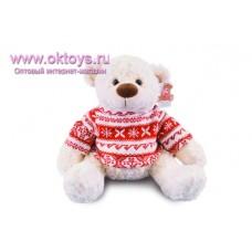 Медведь Семен в красном свитере