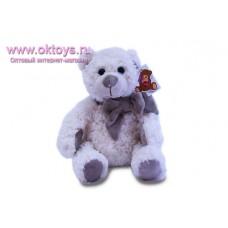 Белый медведь Семен с бантом