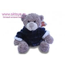 Коричневый медведь Семен в синей куртке