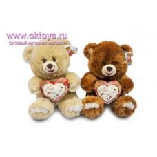Улыбающийся медведь с сердечком - музыкальная игрушка