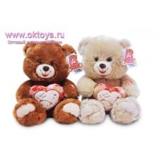 Медведь с сердечком с картинкой - музыкальная игрушка