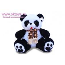 Панда мокрый мех в шарфе - музыкальная игрушка