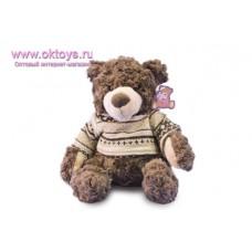 Коричневый медведь Семен в свитере с узором