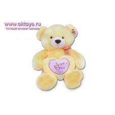 Медведь Лимончик с желтым сердечком