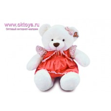 Медведица в платье с жилеткой - музыкальная игрушка