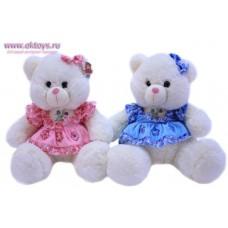 Медведица в платье с оборками - музыкальная игрушка
