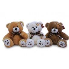 Медведь с коричневым бантом