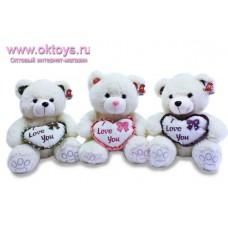 Медвежонок с сердечком с надписью *I love you*