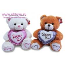 """Медведь с сердцем с надписью """"Sweet"""" - музыкальная игрушка"""
