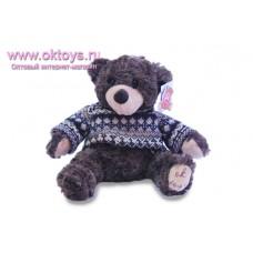 Бурый медведь Семен в свитере с узором