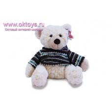 Белый медведь Семен в черном свитере